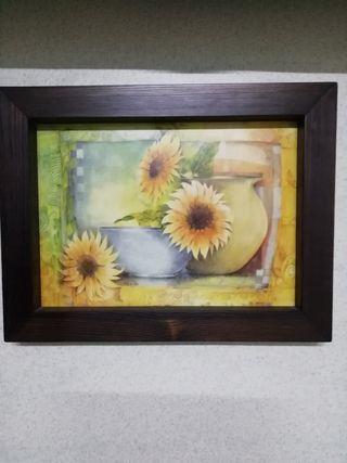 Dos cuadros de flores