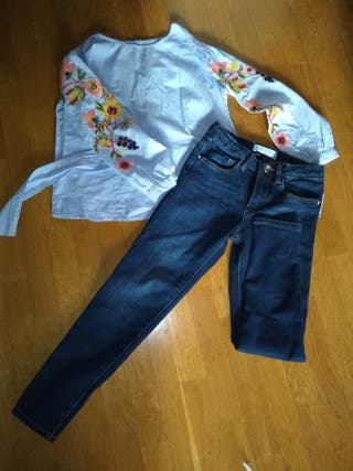 lote camisa y pantalón zara talla 7