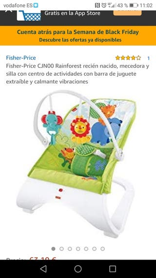 hamaca fisher price con vibración