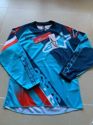 Camiseta-Maillot Alpinestars racer manga larga