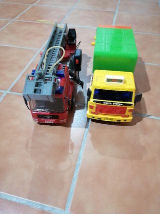 lote de 2 camiones de juguete