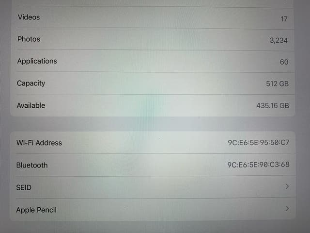 iPad Pro 12.9 512GB 3rd generation
