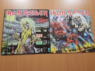 2 LPS discos vinilos IRON MAIDEN originales