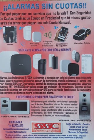 Alarmas y cámaras de seguridad sin cuotas!