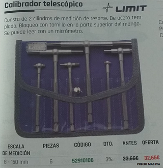 CALIBRADOR TELESCÓPICO LIMIT