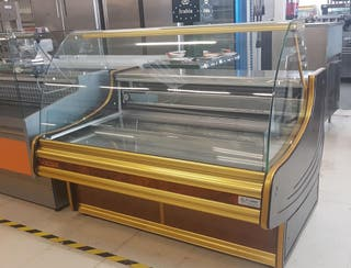 vitrina refrigerada comersa curva 1.50m