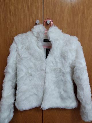 Chaqueta pelo blanco/Abrigo novia