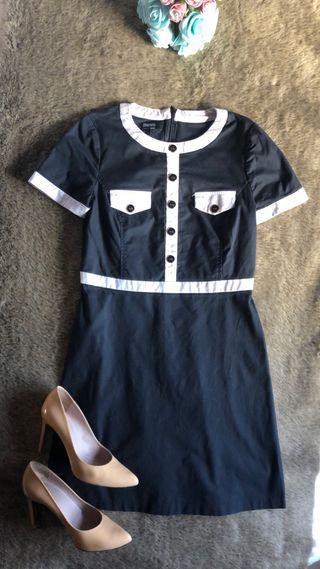 Suiteblanco vestido babydoll estilo Chanel