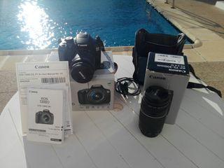 Cámara fotos CANON EOS 1300D + lente EF 75-300MM