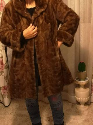 abrigo sra de piel vison