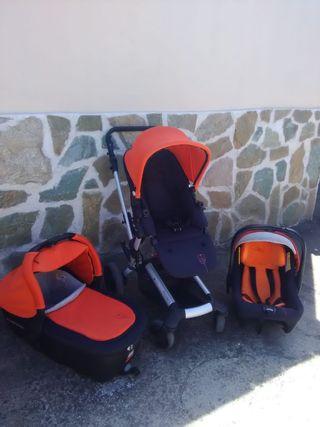 conjunto carro bebé