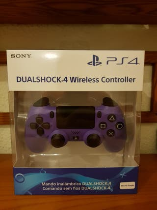 Mando PS4 dualshock 4 electric purple. PRECINTADO