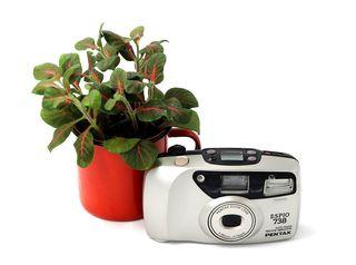 Cámara de fotos analógica Pentax Espio 738