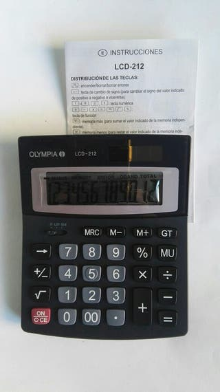 Calculadora Olympia LCD 212 nueva