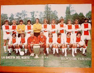 poster futbol ajax años 70