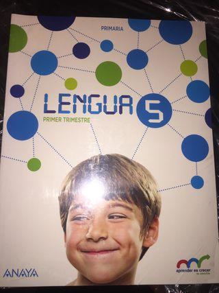 Libros NUEVOS de LENGUA ANAYA 5 de primaria