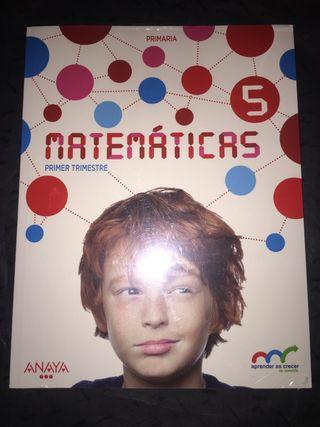 Libros NUEVOS de MATEMATICAS ANAYA 5 de Primaria