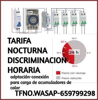 ADAPTAMOS TARIFA NOCTURNA-REPARAMOS-CONECTAMOS