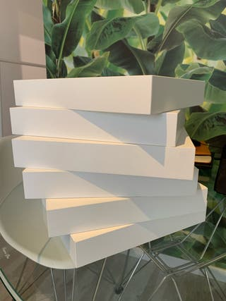 6 estantes LACK blancas