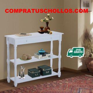 Mueble Recibidor con 2 Estantes 100x30x80cm