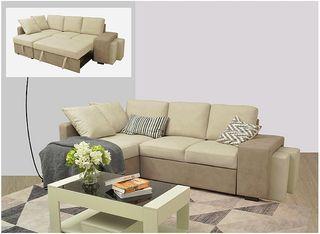 Sofá cama chaise longue con purff [STACY]