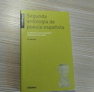 Libro: Segunda antología de poesía Española.