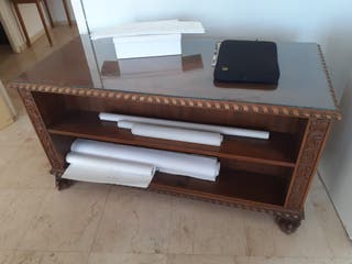 mesa despacho madera con 1 silla clásico Luis XVI