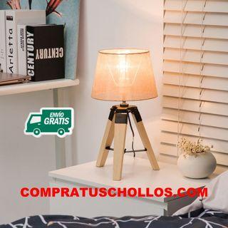 Lámpara de Mesa Moderna y Original con Base Trípod