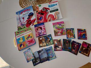5 libros infantiles + REGALO CROMOS PLAYMOBIL