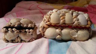 Cajitas joyeros de conchas de mar