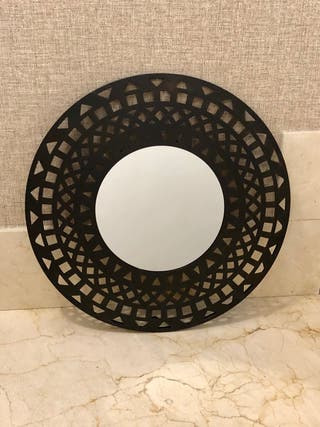 Espejo decoracion negro