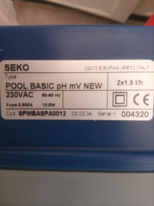 Dosificador de ph para piscinas