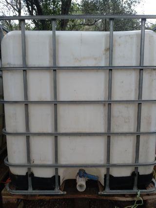 Bidón / tanque almacenamiento de agua 1000L