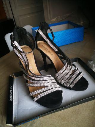 Zapatos de baile con plataforma de segunda mano en la