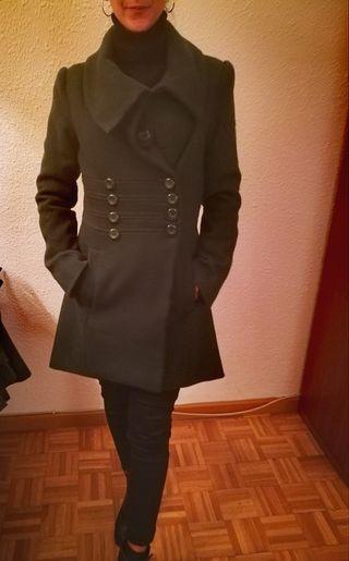 abrigo paño en verde oscuro T/S