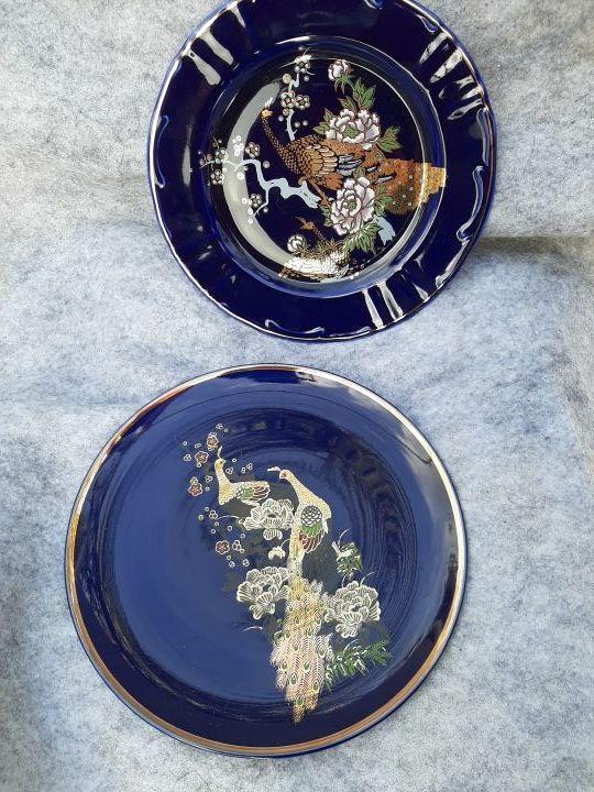 platos azules satsuma