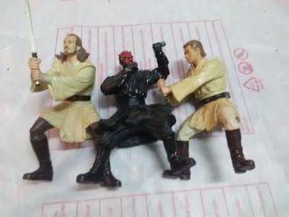 Tres figuras grandes star wars