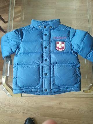 abrigo plumas niño Hackett talla 4 5 6 años