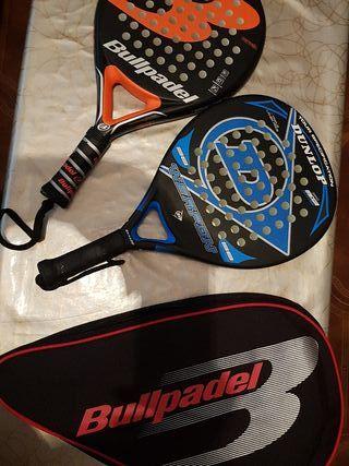 raquetas de padel y funda