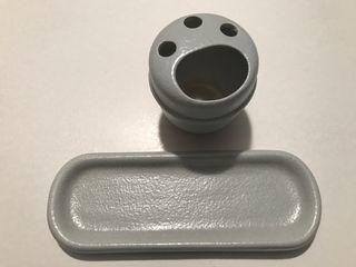 Conjunto Lavabo Ceramica Gris