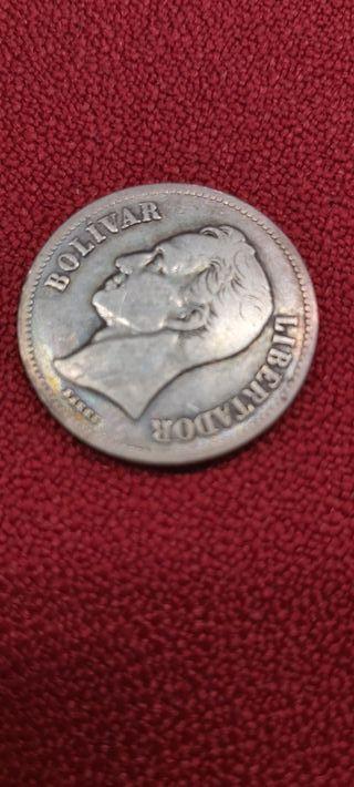 MONEDA DE UN BOLIVAR DE PLATA DE 1929
