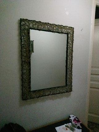 espejo grande hierro