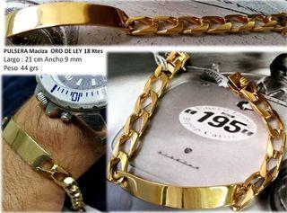 Esclava de oro 18 kts MACIZA hecha a mano