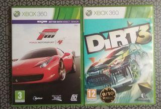 Forza 4 y Dirt 3 Xbox 360