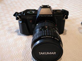Camara Pentax P30 con Objetivo Takumar 28-80mm