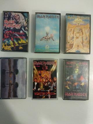 6 IRON MAIDEN Cintas Cassettes HEAVY