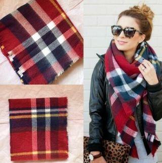 Pañuelos cuadros colores bufandas