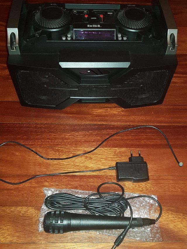 Subwoofer bluetooth MBSL-40 karaoke e iluminación