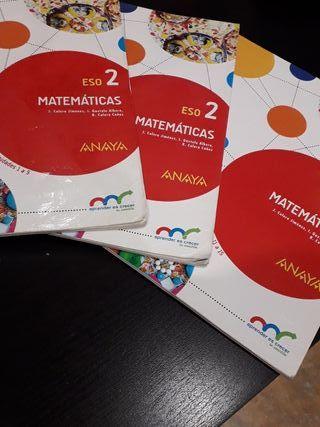 libros trimestrales de 2 eso matematicas