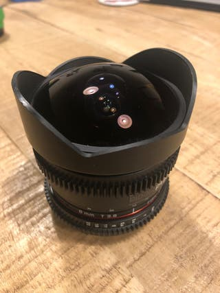 Lente Samyang 8mm Canon Aps-c